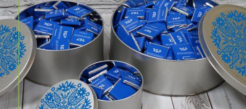 Набор шоколадок в жестяной банке
